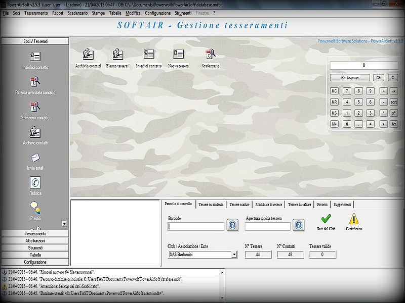 airsoft, softair, club, cards, software, management