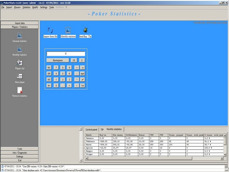 Texas holdem statistics software